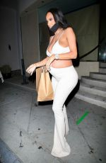 Erica Mena Flaunts her growing bump in a revealing outfit at Catch LA in West Hollywood