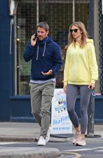 Frida Andersson-Lourie Seen for the first time since the pregnancy announcement in London