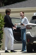 Geena Davis Is spotted chatting with a friend in Los Angeles