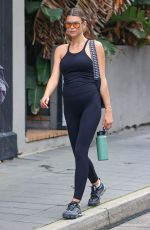 Georgia Fowler Pictured leaving Vive Active gym in Sydney