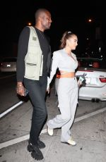 Georgia Harrison Arrives with Vas Morgan for dinner at Catch in West Hollywood