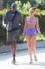 Georgia Harrison Breaks a sweat as she enjoys a hike with Vas Morgan at Runyon in Los Angeles