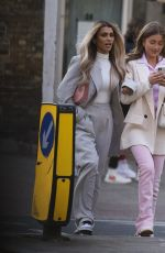 Georgia Steel & Joanna Chimonides Seen out and about in Elephant & Castle, London