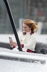 Geri Halliwell At Speed boating during in Monaco during Grand Prix