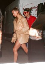Hailey Baldwin/Bieber & Justin Bieber step out for a date night at Craig