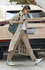 Hailey Baldwin/Bieber Looks ready for business as she heads to a meeting in Los Angeles