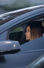 Hailey Bieber Leaves after a pampering session at 454 North hair salon in West Hollywood