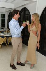 Hannah Selleck Joined her boyfriend, Polo star Nic Roldan for a cocktail party at The Surf Club Restaurant in Miami