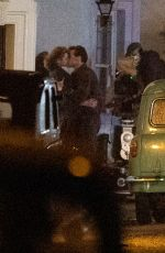 Harry Styles & Emma Corrin Filming a kissing scene for