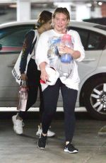 Hilary Duff Pictured stepping out to a gym in Los Angeles