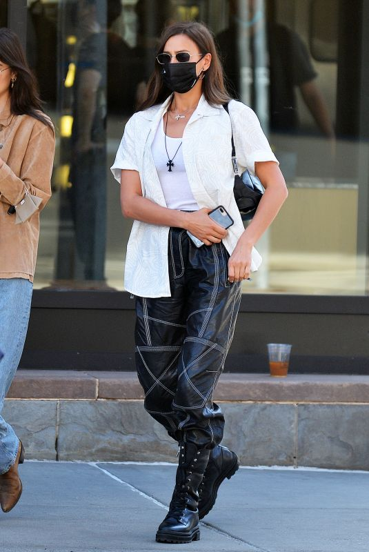 Irina Shayk Out in the West Village