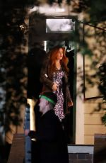 Isla Fisher On the set of Wolf Like Me in Sydney