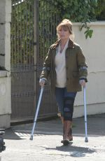 Jane Seymour Pictured on the set of HARRY WILD in Wicklow