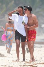 Jasmine Tookes Has fun on the beach while vacationing in Tulum