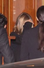 Jennifer Aniston Keeps it low-key as she is seen leaving Sunset Tower after enjoying a night out with friends in los Angeles
