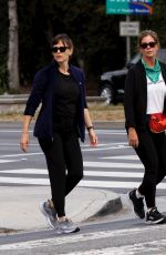 Jennifer Garner Out with a friend for an early morning walk and coffee run in Brentwood