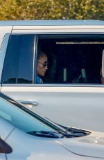 Jennifer Lopez Heads to a studio in the same SUV that Ben Affleck was dropped off in at the Bel Air Hotel earlier that morning