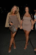 Jess & Eve Gale Seen heading to Toy roof bar for a night out with friends in London