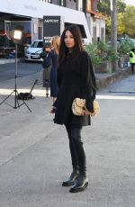 Jessica Gomes Seen at Sydney Fashion Week at Carriageworks