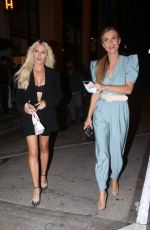 Joanna Krupa Goes maskless after dinner with a friend at Catch LA in West Holywood