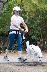 Jodie Foster Steps out for a scenic stroll with her adorable dog Ziggy in Los Angeles