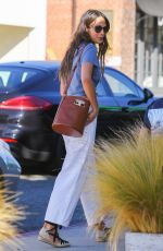 Jordana Brewster Dons midriff-baring top while on a coffee run in Brentwood