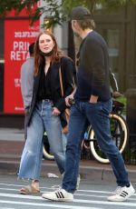 Julianne Moore And Bart Freundlich are seen in the West Village