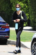 Kaia Gerber Gets her daily workout done as she wraps up a pilates class in West Hollywood