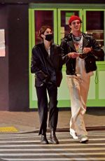 Kaia Gerber Goes out for a late-night date with boyfriend Jacob Elordi in Los Angeles