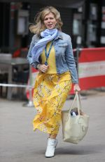 Kate Garraway After finding it her Power of Hope book hits the top of the charts pictured at Global offices wearing a denim top and yellow summer dress in London