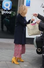 Kate Garraway On her 54th birthday steps out in a floral dress outside the Global Radio Studios for her Smooth Show in Londo