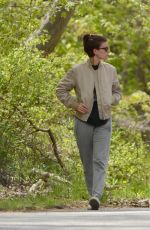 Kate Mara Takes a walk with her mom on Mother
