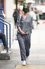 Katie Holmes Brings back the Bucket Hat while out running errands in NYC