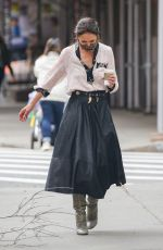 Katie Holmes Pictured on set in Tribeca