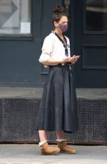 Katie Holmes Pictured while out in Tribeca
