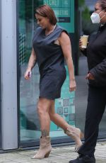 Katie Price And Boyfriend Carl Woods Take Their Two Dogs To Leeds Dock TV Studios
