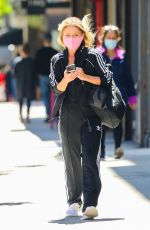 Kelly Ripa Looking sporty in an Adidas tracksuit while heading to the gym in New York