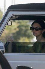 Kendall Jenner Stops traffic in her convertible Mercedes G-Wagon while leaving the gym in Beverly Hills