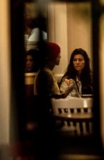 Kourntey Kardashian Completely melted after receiving a kiss from Travis Barker as the lovebirds enjoyed an Italian dinner date in Calabsas