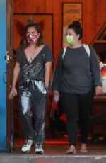 Lady Gaga Goes shopping with a friend at Aviator Nation in Malibu