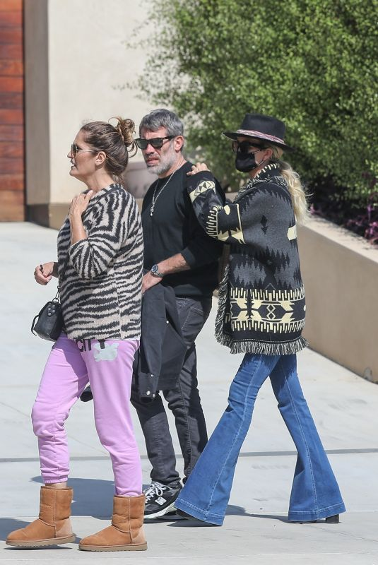 Laeticia Hallyday and boyfriend Jalil Lespert walk back to her newly purchased Pacific Palisades love nest after lunch