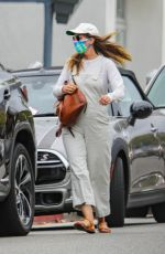 Leighton Meester Seen walking on the streets of Pacific Palisades