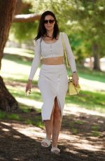 Leni Rico Look angelic while leaving Coldwater Park in Beverly Hills