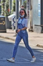 Lilly Becker Spotted wearing dungarees while out and about in London