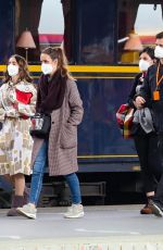 """Lily Collins In the set of """"Emily in Paris"""" at Gare de l"""