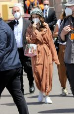 Lily Collins On the set of