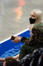 Lindsey Vonn Attending a NBA playoffs game at the Barclays Center in Brooklyn