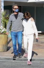 Lisa Rinna And her husband Harry Hamlin finish a casual sushi lunch together in Los Angeles