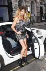 Lizzie Cundy Celebrates her birthday at the Arts Club in Central London