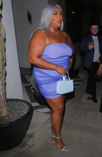 Lizzo Looks stunning as she strikes a pose outside Catch LA in West Hollywood